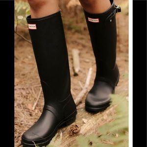 Hunter Original Tall Black Rubber Rain Boots 7